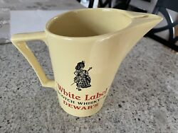 Vintage Dewars Scotch Whisky Collectible Water Jug By Wade