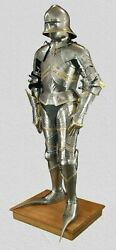 Full Body Medieval German Gothic Suit Of Armour 15th Century Replica Halloween