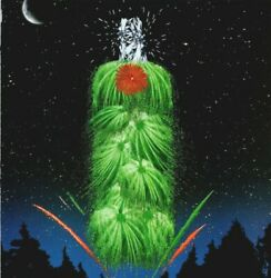 Tanqueray 4th Of July Fireworks Sky Bottle 1989 Vintage Print Ad