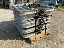 Lot Of 10 Magliner 4000 Lb. Capacity Aluminum 48 X 48 Pallet Dolly 6 Rollers