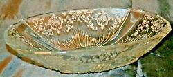Fostoria Glass Navarre Etched 2545 Flame Pattern Lg. Oval Console Bowl 12 3/4