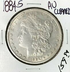 1884-s Morgan Silver Dollar Au Cleaned Nice Coin