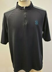 Under Armour Michigan State Spartans Black 1/4 Zip Pullover Men's Size L Used