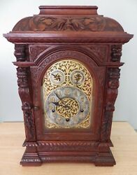 Antique And Co Mantel Clock Elite Movement Carved Kings Local Pickup Ca