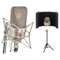 Neumann Tlm 49 Cardioid Studio Condenser Mic With Reflection Filter And Mic Stand