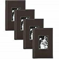 Debossed Faux Leather Photo Albums Holds 300 4x6 Photos Set Of 4 3up Brown