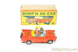 Ko Tin Lithographed Friction Andldquobump Andlsquon Go Carandrdquo Mystery Action Japanese Toy