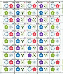 Canada Stamp Sheet511a - Expo '70 1970 50 X 25¢ Se-tenant Block Of 4 508-...