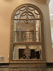 9andrsquo Tall Large Decorative Gold Baroque Arched Ornate Leaning Wall Mirror