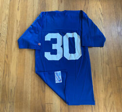 Seattle Seahawks Vintage 80's Blank Champion 30 Jersey Mens Small Rare Blue