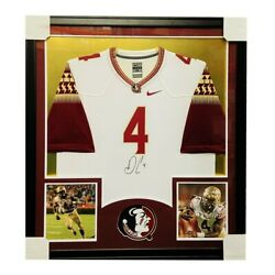 Dalvin Cook Signed Framed Nike On Field White Jersey - Front Side