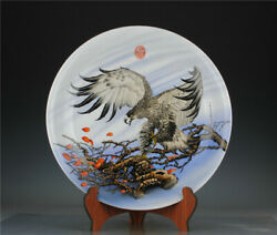 20.2and039and039 China Enamel Porcelain Plate Animal Tray Old Pottery Plate
