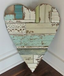 Wood Plank Heart Wall Sculptureprimitive/french Country Farmhouse Decornew