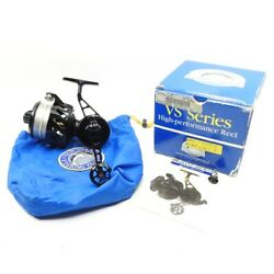 Black Van Staal Vs-300n Fishing Reel. Made In Usa. W/ Box And Pouch.