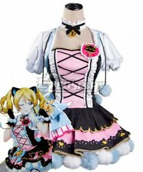 Love Live Eli Ayase Cat Double Pony Tail Maid Dress Girls Cosplay Costume E001