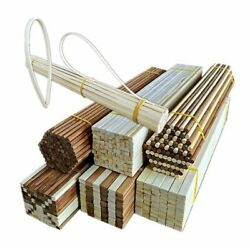 10pcs Set Round Square Long Bamboo Sticks 300mm Unfinished Modeling Materials
