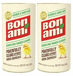 Bon Ami Powder Gentle Cleanser For Kitchens Bathrooms All Surfaces 2-pack