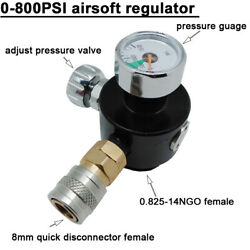 0-800psi Airsoft Regulator With 8mm Quick Disconnect Input Refill Co2 /hpa Gas