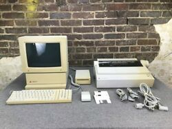 Apple Iigs Computer And Rgb Monitor Keyboard/mouse Printer | Complete Working Set