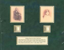 Actual Hairs Of Abraham Lincoln And Mary Todd Lincoln - Relic - Last One