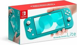 Nintendo Switch Lite Turquoise Handheld Video Game Console With Accessories -new
