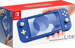 Nintendo Switch Lite Blue Handheld Video Game Console With Accessories -new