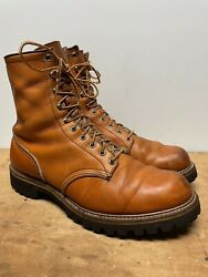 [excellent] Mens 12e Vintage Red Wing Irish Setter Sport Brown Logger Boots Usa