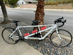 Cannondale Tandem Bicycle Rare Vintage Collector White Cycle Road Bike Mint Cond