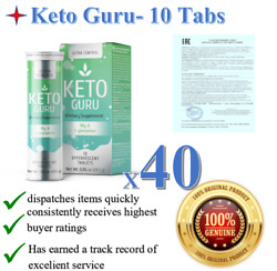 40x Keto Guru Ultra Weight Loss Control Supplement. 10 Tabs. Health And Beauty New