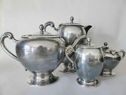 Vintage Renown Australia Epns Silver Plated Tea And Coffee Service, 1930s