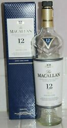 Empty Macallan 12 Double Cask Highland Scotch Whisky Bottle And Box Whiskey 750ml