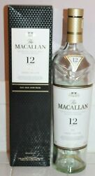 Empty The Macallan 12 Highland Scotch Whisky Bottle And Box Whiskey 750ml