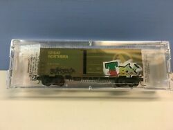 N Scale Micro Trains Mtl 024 44 360 Gn 11160 Grafittied And Weathered Boxcar