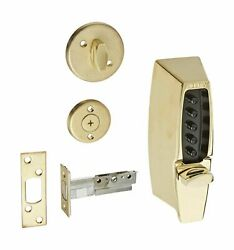 Simplex 710803 Metal Mechanical Pushbutton Auxiliary Lock With Thumb-turn 2-3/8