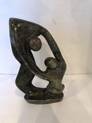 African Mid Century Soapstone Abstract Sculpture - Made In Zimbabwe Signed