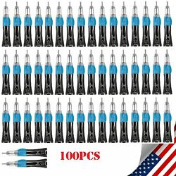 100pcs Black Dental E-type Straight Nosecone Low Speed Handpiece Fit Nsk Ex203c