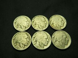 1913 Ty I, 1915, 1916, 1917, 1918 1919  P Mint Buffalo Nickels Us Coins