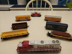 Ho Scale Life Like Trains Complete Working Set With Accessories And Scenery