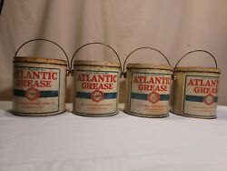 Vintage Nos 5 Pound Atlantic Grease Cans Motor No 1 Price Is For One Can