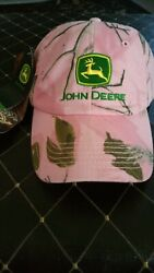 New With Tags - John Deere Pink Camo - Realtree - Adjustable Back Cap