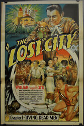 Lost City 1935 Orig 27x41 Chapter 1 Living Dead Men Movie Poster William Boyd