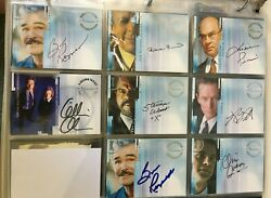 The X-files - Season 9 - Inkworks Master Trading Card Set With Anderson Auto
