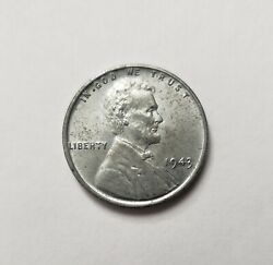 1943 Silver Steel Lincoln Wheat Penny One Cent Rear