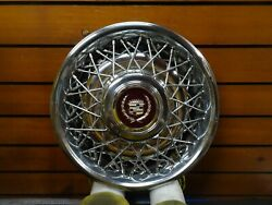 1 1986 1987 Cadillac Brougham Fleetwood Wire Spoke Hubcap Wheel Cover Oe 15