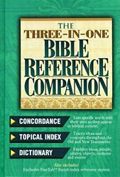 Three-in-one Bible Reference Companion Super Value Edition By Thomas Nelson Mint
