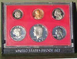 1981 S Type 2 Proof Set Includes Penny Nickel Dime Quarter1/2 Dollar And Dollar