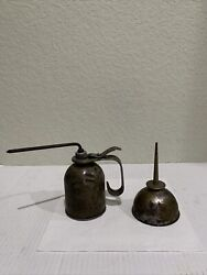 Vintage Early 1900s Metal Eagle Oil Cans 2 Made In Usa