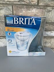 Brita Pacifica Water Filter Pitcher 10 Cup 6025836040 White