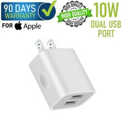 10w Dual Usb Wall Charger Cube For Oem Iphone 78xxsxr11 Ipad 5 6 7 [f15