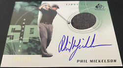 2002 Sp Game Used Edition 80 Phil Mickelson First Tee Auto 200/250 Rookie Rc
